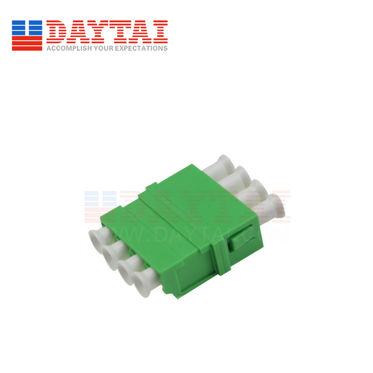 LC/APC-SM-Quad-Fiber Optic Adapter-Without Flange