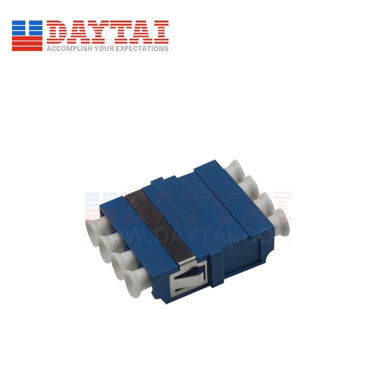 LC/UPC-SM-Quad-Fiber Optic Adapter-Without Flange