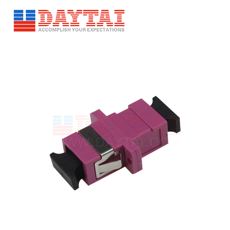 SC-MM-OM4-SX-Fiber Optic Adapter-With Flange