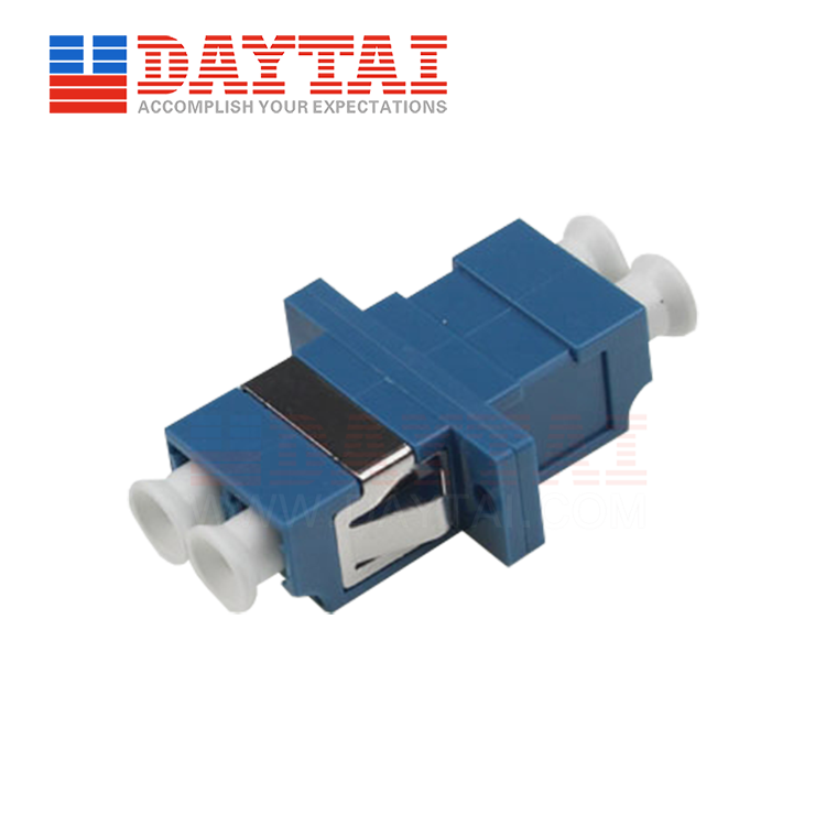 LC/UPC-SM-DX-Fiber Optic Adapter-symmetrical  typer-With Flange