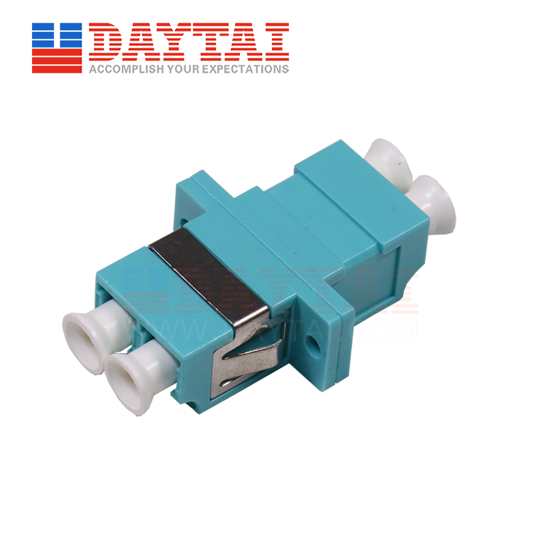 LC-MM-OM3-DX-Fiber Optic Adapter-With Flange