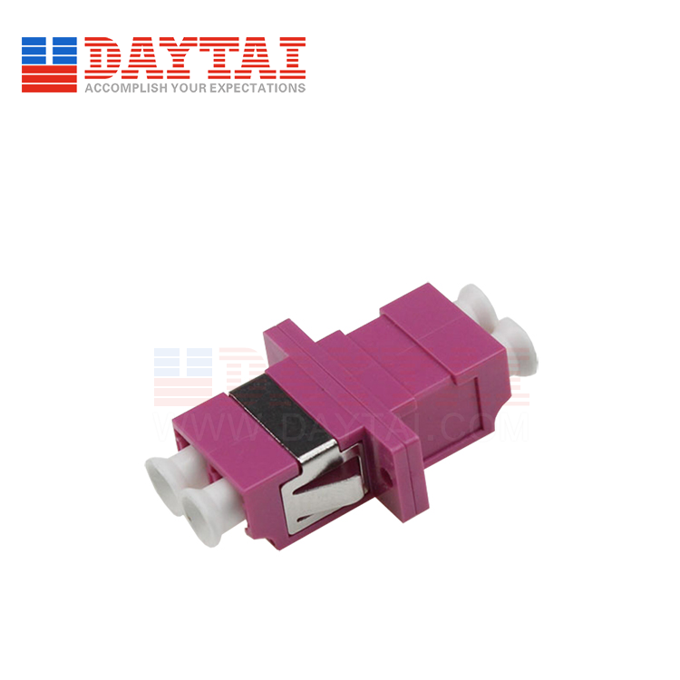 LC-MM-OM4-DX-Fiber Optic Adapter-With Flange
